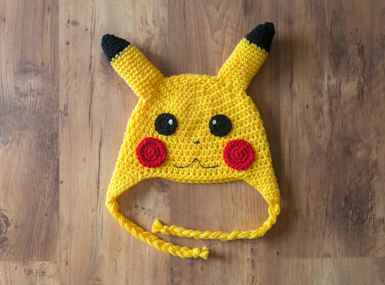 Pikachu Hat Crochet Pikachu Hat Pikachu Crochet Hat Pikachu