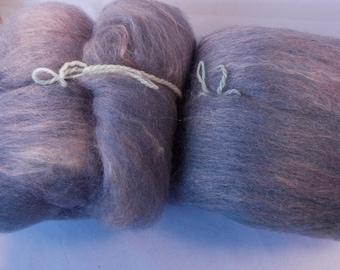 3.75 oz Batt Handpainted Shetland and Silk spinning fiber