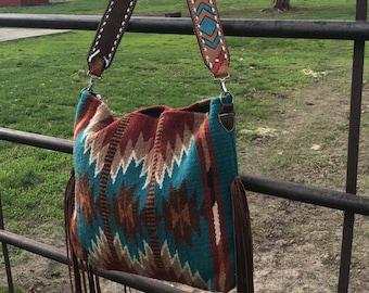 Aztec saddle blanket purse