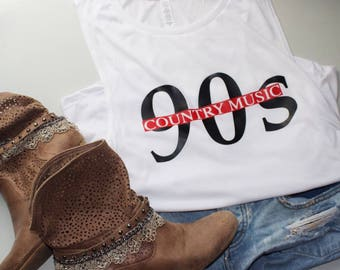Vintage Style 90s Country Music Tank