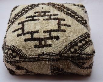 Home decor Ottoman Floor pillow Vintage Moroccan poufs Marmusha  pouf, Square berber footstool, Furniture poufs Gift, Azilal pouf