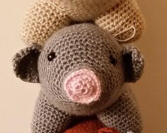 Crochet Amigurumi Pig/Piglet Stuffed Animal (Various Colors)