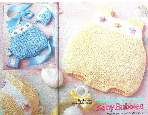 Easy Quick Crochet Pattern Baby Infant Boy and Girls Bubbles