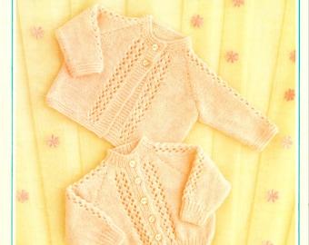 QK Baby Pattern 4 ply Pattern Baby Jacket Pattern Baby Cardigan Baby Matinee Coat Vintage Knit Pattern Baby Knit Pattern Instant Download