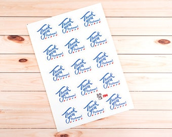 Thank you Postman! Set of 15 stickers for postcards, envelopes or letters