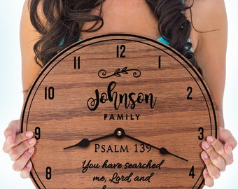 Psalm 139 - 139th Psalm - Bible Verse - Psalms - Custom Names - Family Last Name