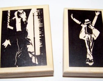 Michael Jackson Set New Mounted Rubber Stamps