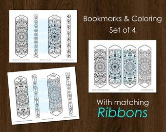 Bookmark Coloring Mandala Bookmark DIY Bookmark Custom bookmark Coloring  Bookmark set Book Accessories Bookmark for books Printable Mandala