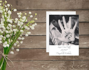 Personalised Photo Save The Date  - I Said Yes! - Picture Wedding Save The Dates - Own Photo - Save Our Date