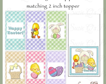 Easter Mini Candy Wrapper and Topper Set, 6 wrapper designs - Digital Printable - Immediate Download