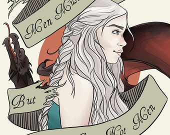 Game of Thrones Daenerys Art Print