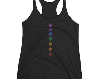 Unisex Tank Top with 7 Chakra Design (Available in 9 Colors)