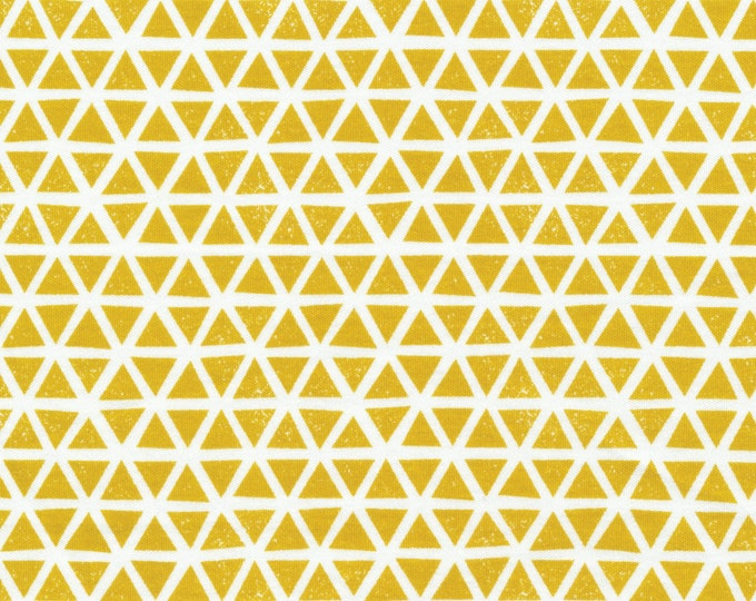 Triangles in Citron - Organic Cotton Knit from Cloud9 Knits
