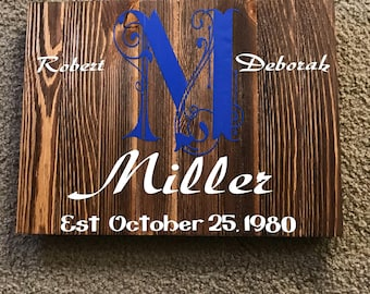 Anniversary pallet board for plaque