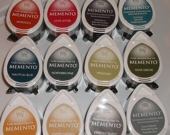Tsukineko Memento DEW DROP Ink PADS  Fast Drying Fade Resistant  fine impressions even coverage    Best Inks for work with Alcohol markers