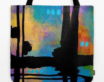 Abstract Art Tote, Urban Accessory, Urban Shoulder Tote, Contemporary Art, Contemporary Tote, Urban Abstract Art, Abstract Art Print