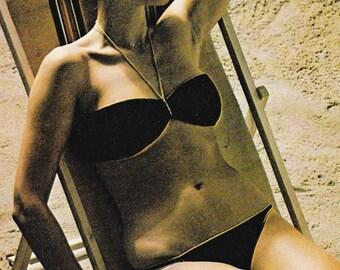 Vintage Crocheted Bandeau Bikini Pattern
