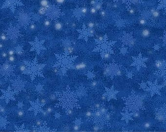 Santa Claus Is Coming To Town Blue Snowflake 21697-44 from Northcott by the yard