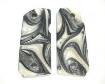 Silver & White Pearl Kimber Micro 9 Grips