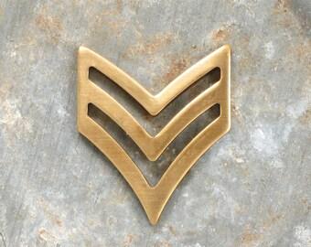 5 pcs CHEVRON arrow jewelry pendant . 25mm x 21mm (S31). Please read description