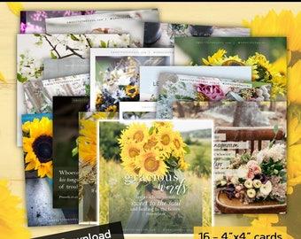 "Scripture Card Set - Digital Download - 16 piece card set - ""Gracious Words"""