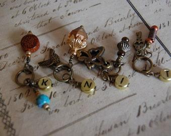 "Steampunk ""Knit"" Stitch Markers"