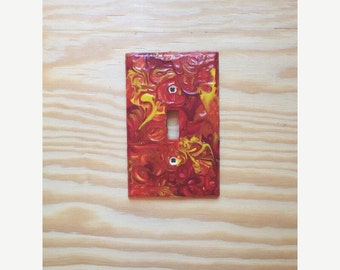 Hand painted lightswitch cover