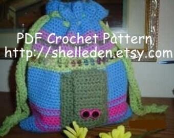 PDF Crochet Pattern Bohemian Bag