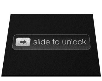 Slide To Unlock Door & Floor Mat