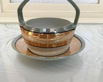 Vintage Noritake Lusterware Sugar Bowl