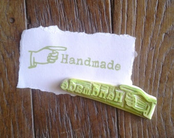 Handmade Rubber Stamp Hand Carved