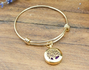 Gold Diffuser Jewelry - Essential Oil Diffuser Bracelet for Women - Gift for Women - Jewelry Gift for Mom - Aromatherapy Jewelry