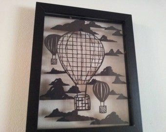 Paper cutting template Hot Air Balloon