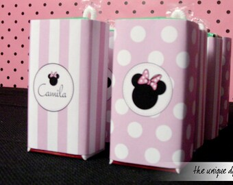 Printable Minnie Mouse Juice Wrappers - Instant Download - Minnie Mouse Birthday Party -  // MIN-05