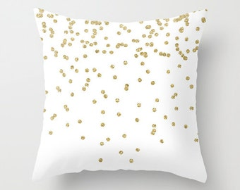 Gold Pillow, Velvet Pillow Cover, Gold Cushion, Girls Room Decor, Teen Room Decor, Dorm Pillows, Gifts for Her, Cushion Cover, 18x18, 22x22