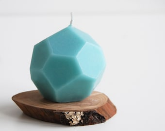 Geometric Candle, Faceted Handmade Candle, Modern Home Decor - Mother's Day Gift - Industrial Candle - Hygge Home Decor - Father's Day Gift