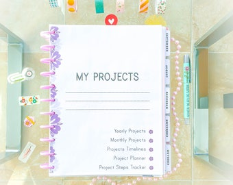PROJECT PLANNER Big Happy Planner Printable Planner Ultimate Planner Task Tracker Letter PDF Inserts Project Steps tracker  Instant Download