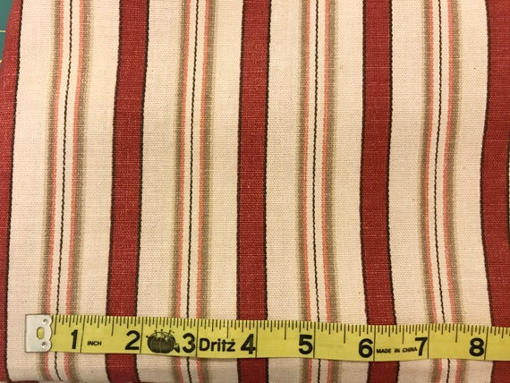 Home Decor Fabric | Waverly General Store Fabric Red Tan | Cotton Twill  Fabric From JeanniesFabrics On Etsy Studio