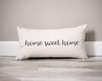Home Sweet Home Pillow | Rustic Decor | Home Decor | Personalized State Pillow | Home Pillow | Personalized Pillow | Housewarming Gift