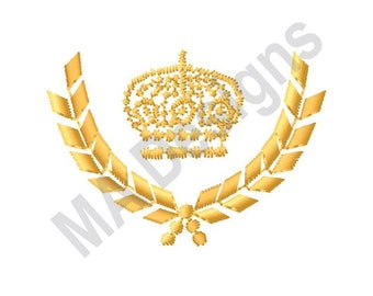Crown Laurel Wreath - Machine Embroidery Design, Crown, Laurel Wreath, Wreath