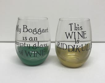 Harry Potter Stemless Wine Glasses