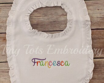 Custom Birthday Bib ~ Please Make a Custom Birthday Bib For Me ~  **Can be made in any colors!**