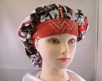 Women's Bouffant Scrub Hat Wonder Woman