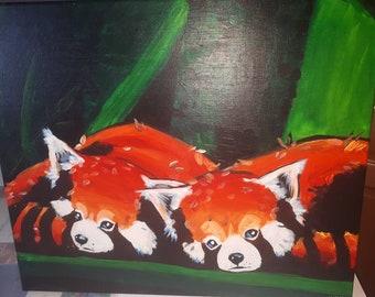 Canvas Red Panda