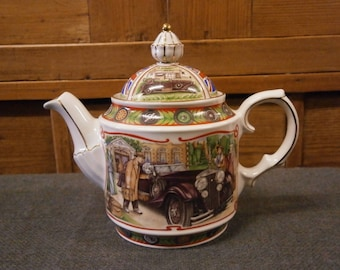 Sadler Teapot - Golden Age of Travel Series - The Open Road - Vintage