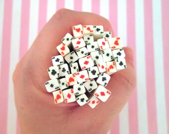 Playing Cards Polymer Clay Canes, Set of 4 #329B