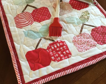 Cheerie Cherries Table Topper Mini Quilt