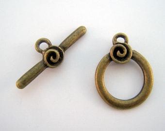Bronze toggle clasp-FB-0014