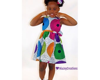 African Clothing: JESSIERUECOLLECTION - Anopa Dress Set, African Print Girl Dress, Baby Girl  Dress, Toddler Dress -Fall2