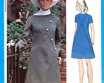 Vogue Americana 2257 Vintage 60s Sewing Pattern for Misses' Dress by Designer Bill Blass - Uncut - Size 12